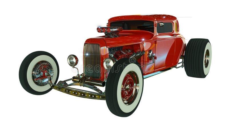 旧车改装的高速马力汽车3D回报 库存图片
