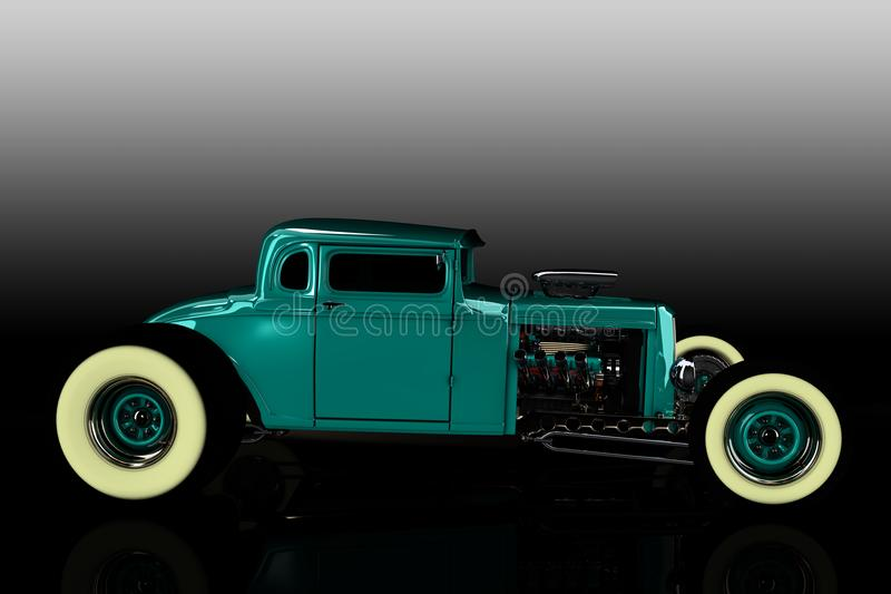 旧车改装的高速马力汽车3D回报 皇族释放例证