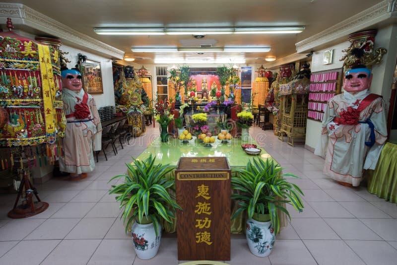 旧金山加利福尼亚- 2018年8月17日:Ma苏田道士寺庙在唐人街 库存图片