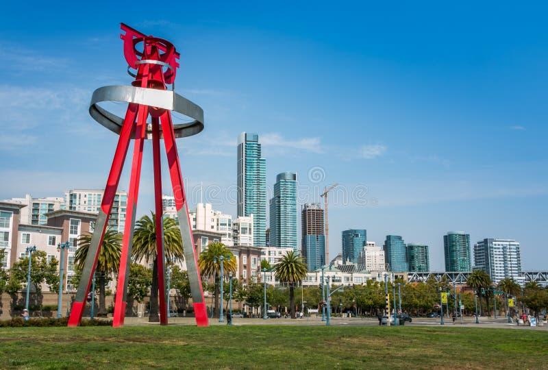旧金山和纪念碑城市 库存图片