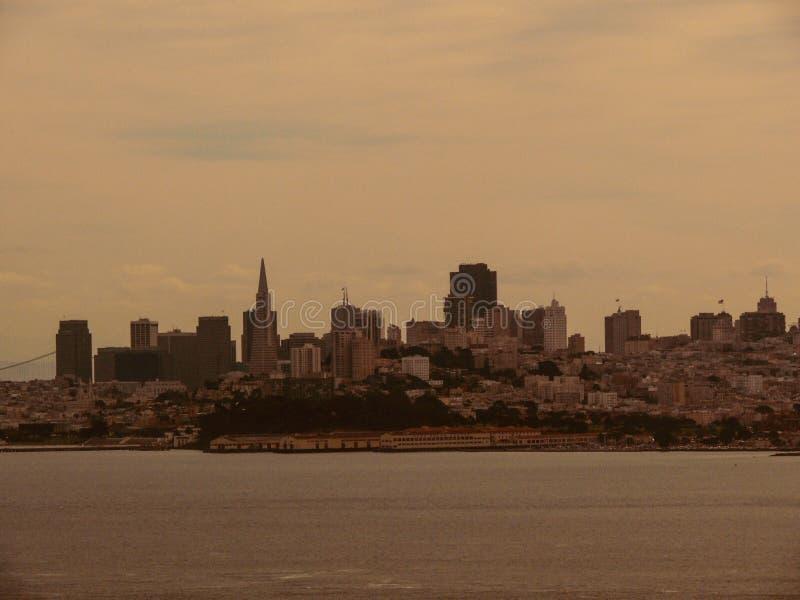 旧金山在黎明 免版税图库摄影