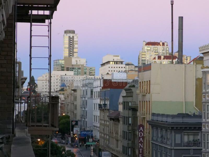 旧金山在黎明 免版税库存图片