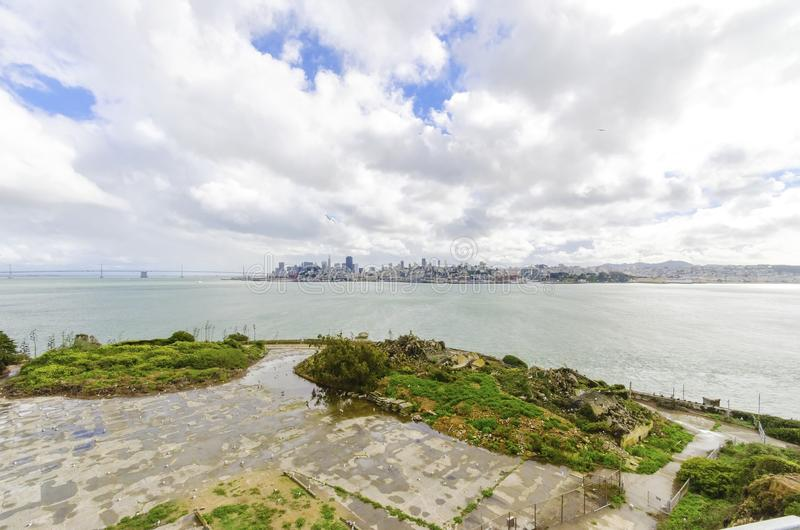 旧金山地平线,加利福尼亚 免版税库存图片