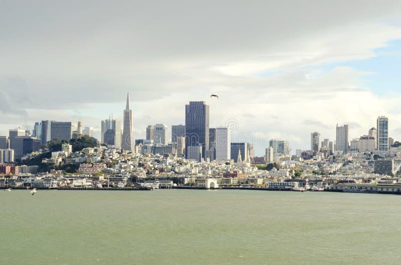旧金山地平线,加利福尼亚 图库摄影