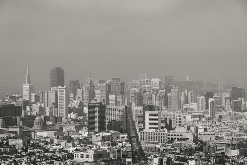 旧金山地平线,加州美国 免版税库存照片