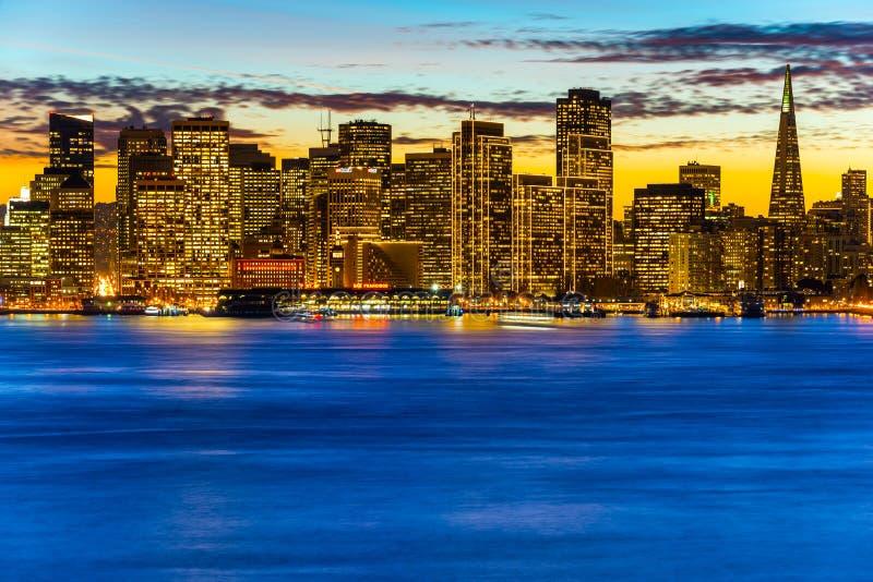 旧金山地平线 免版税图库摄影