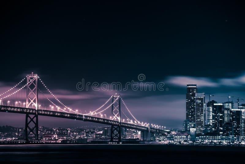旧金山奥克兰桥梁 免版税库存图片