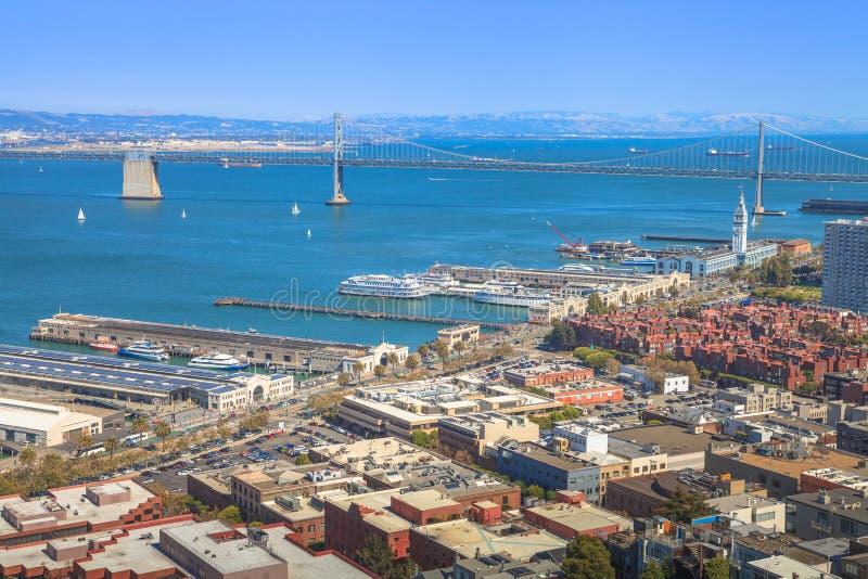 旧金山奥克兰桥梁 免版税库存照片