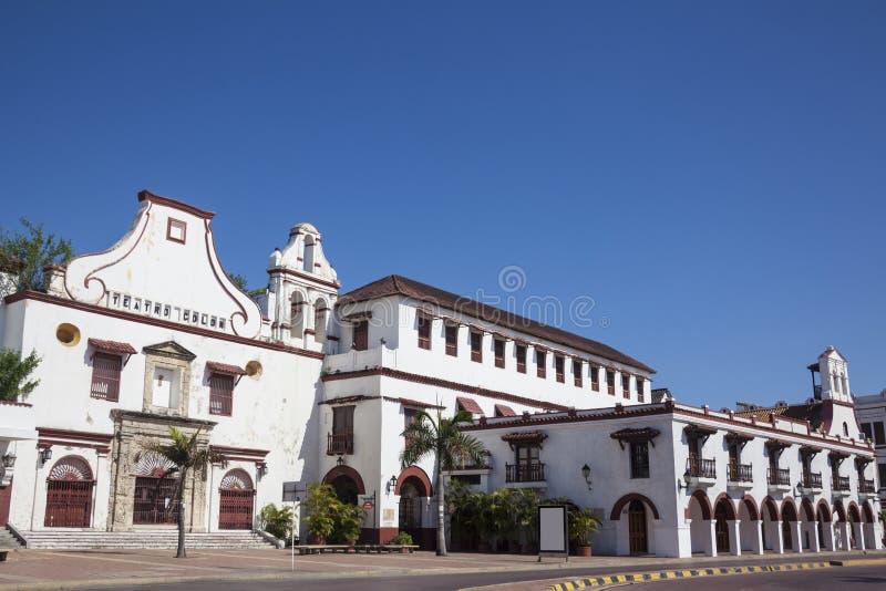 旧金山女修道院在卡塔赫钠de Indias 免版税库存图片