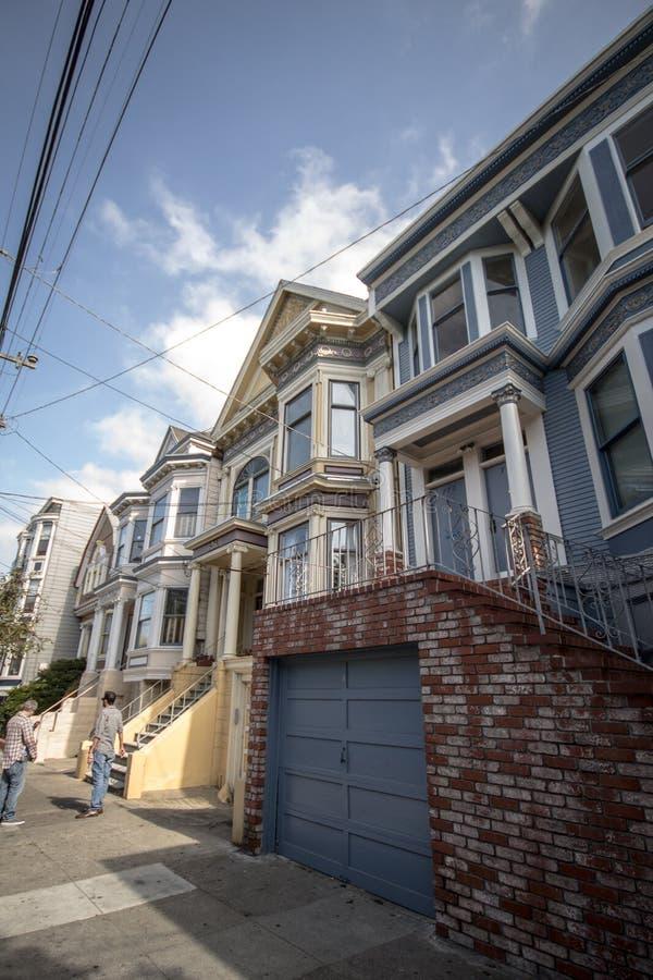 旧金山房子卡斯特罗区 免版税库存照片