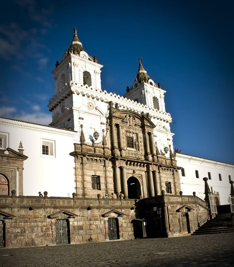 旧金山教会在基多-厄瓜多尔 免版税图库摄影