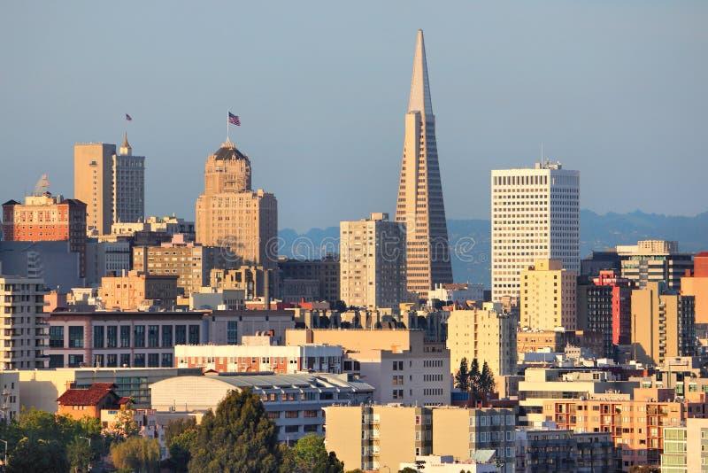 旧金山日落 库存照片
