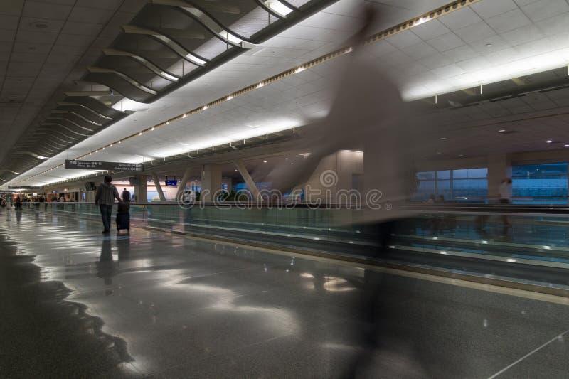 旧金山机场,加利福尼亚内部  库存照片