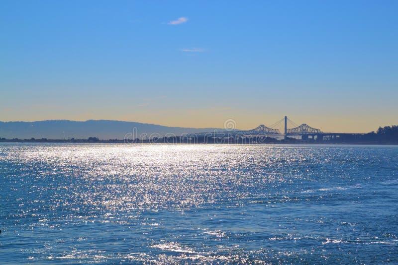 旧金山桥梁和太阳 库存照片