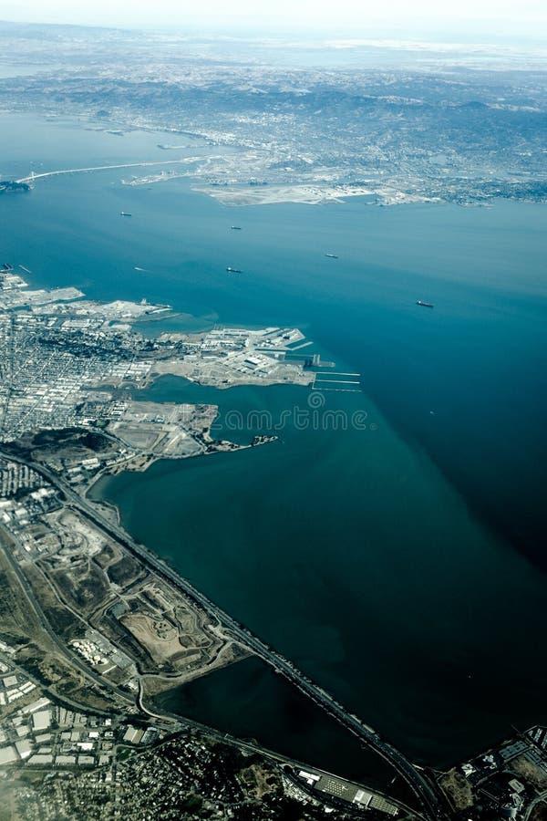 旧金山海湾从天空的 库存图片