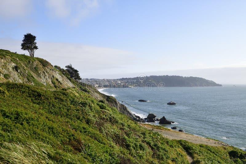 旧金山湾和地平线 库存照片