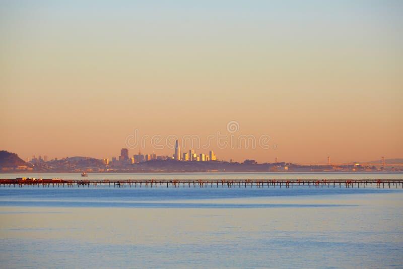 旧金山湾和地平线 免版税库存图片
