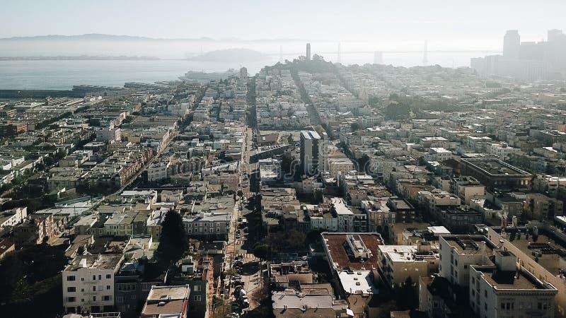旧金山湾地区城市Scape加州美国 免版税库存照片