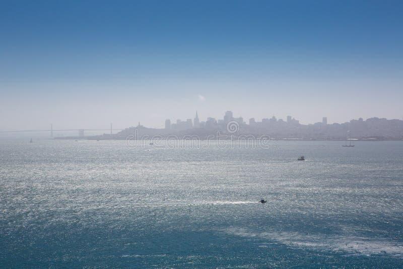 旧金山湾地平线全景 库存图片