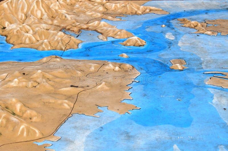旧金山湾拓扑学地图 免版税图库摄影