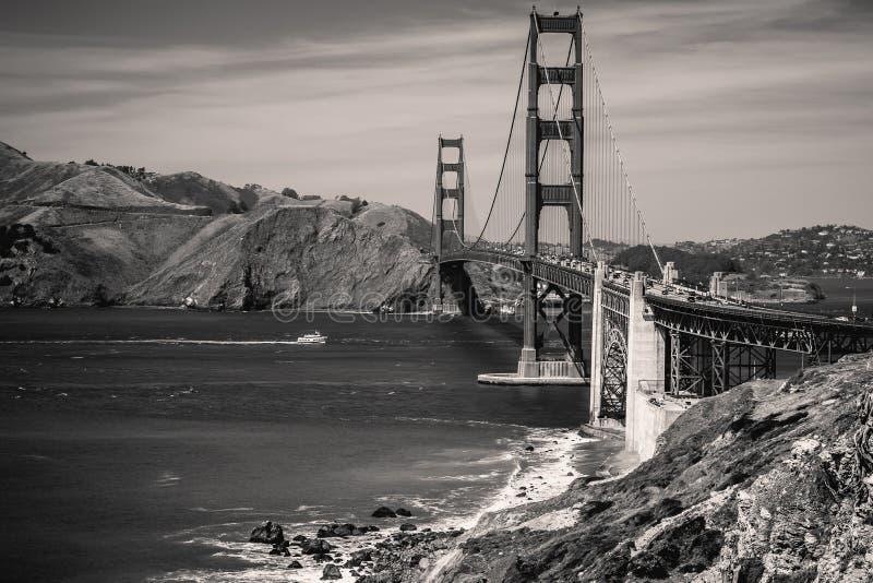 旧金山湾金门大桥夏日 库存图片
