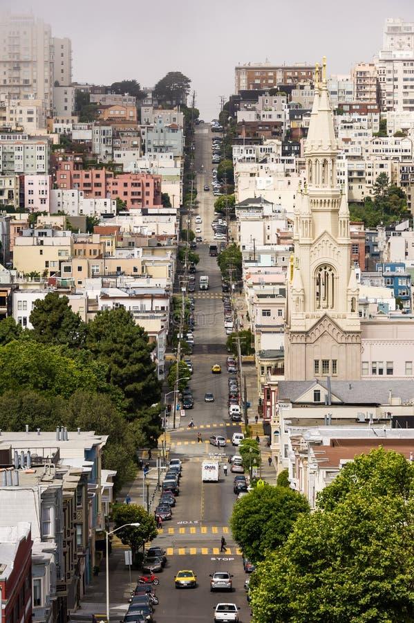 旧金山独特的街道 免版税库存图片
