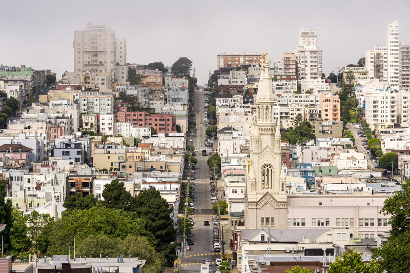 旧金山独特的街道 库存图片