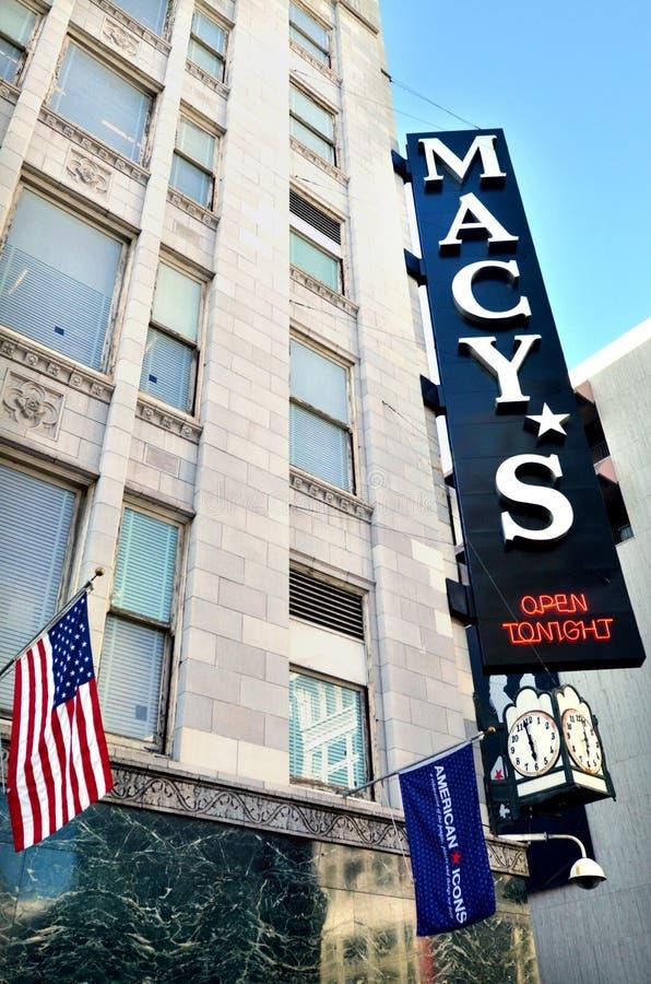 旧金山联合正方形的加利福尼亚梅西百货公司商店 免版税库存照片
