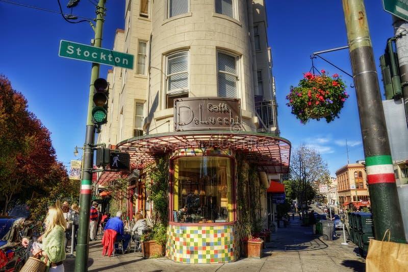旧金山,加利福尼亚,美国-第11 2012年11月:角落C 免版税库存图片