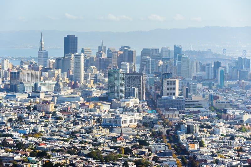 旧金山,美国建筑学  库存照片