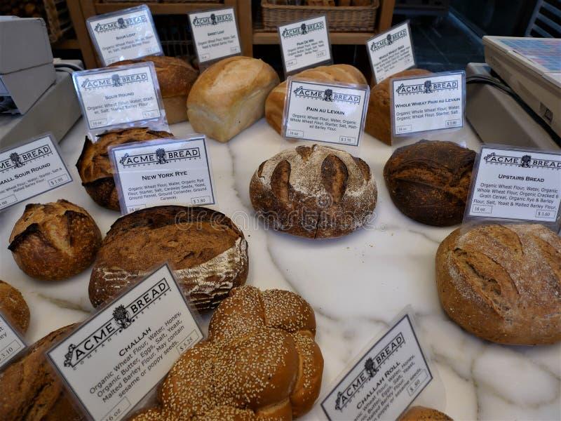 旧金山,面包商店 库存照片