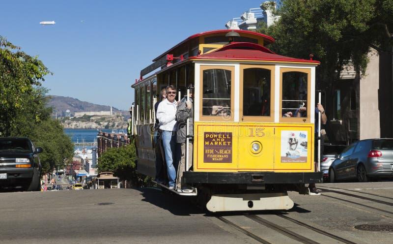 旧金山- 11月3日:缆车电车, 11月3日, 库存照片