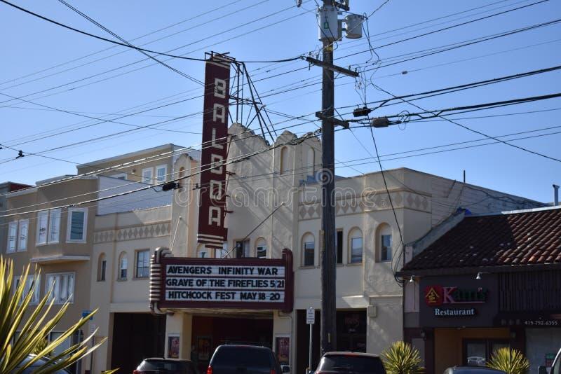 旧金山` s历史的巴波亚剧院, 3 免版税库存图片