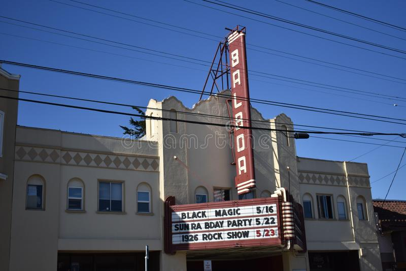 旧金山` s历史的巴波亚剧院, 1 库存图片