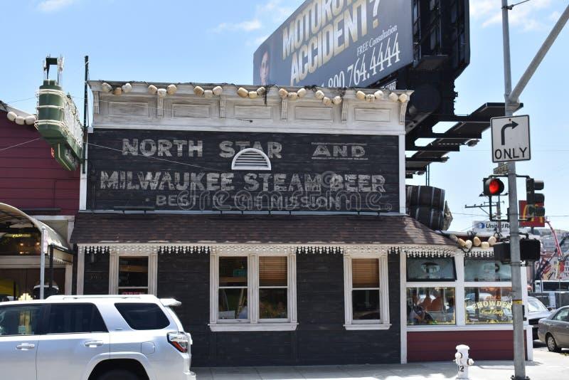 旧金山` s最旧的连续的餐馆在同一个地点, 1 免版税库存照片