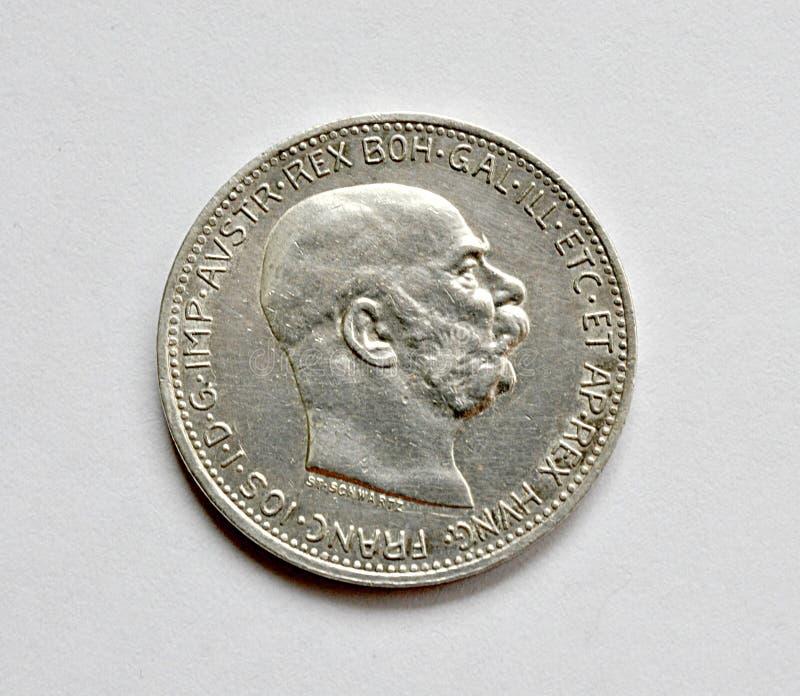 旧银币,奥地利和匈牙利 免版税库存照片