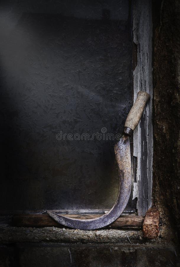 旧锤镰刀 库存图片