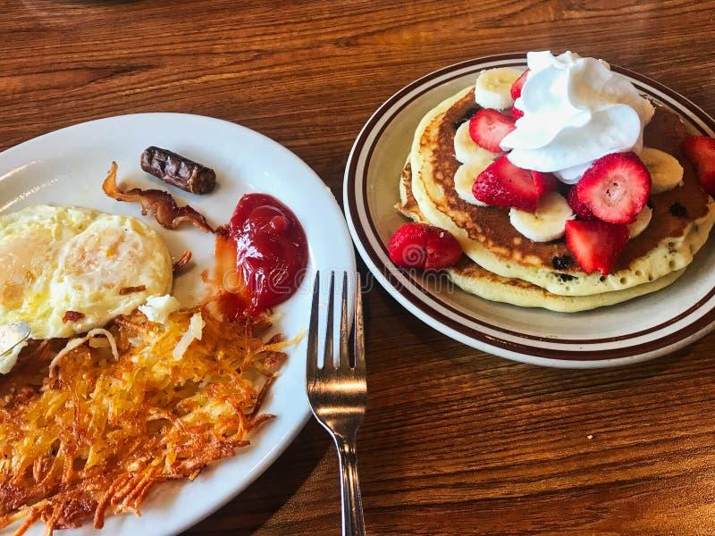 早午餐为有充分的能量 免版税库存照片