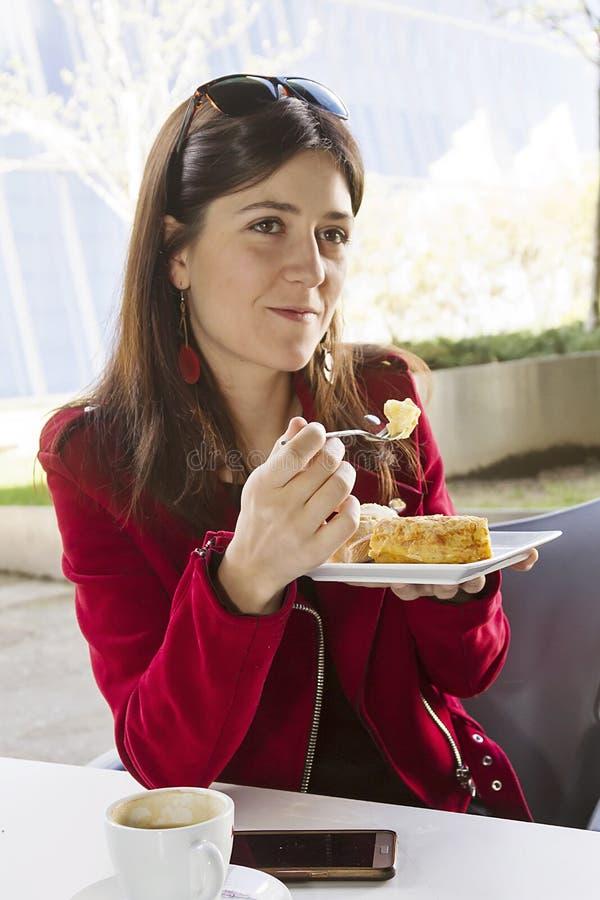 早午餐在城市 免版税库存照片