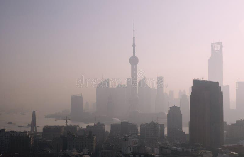 早晨上海视图 库存图片