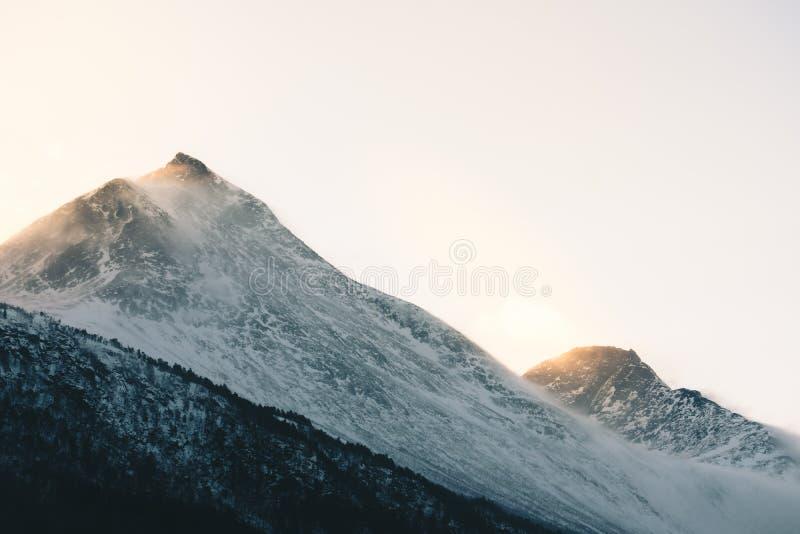 早晨光在挪威 库存照片