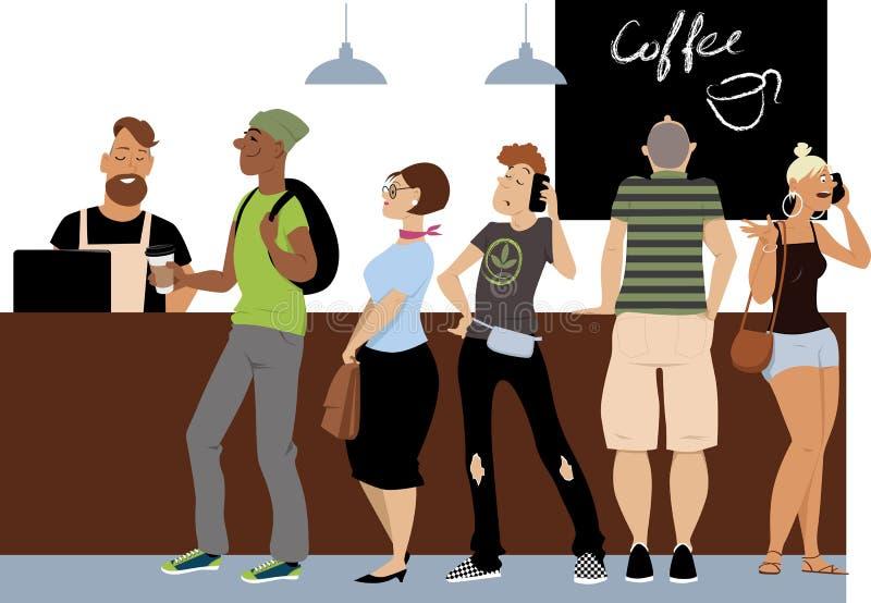 早晨咖啡线 库存例证