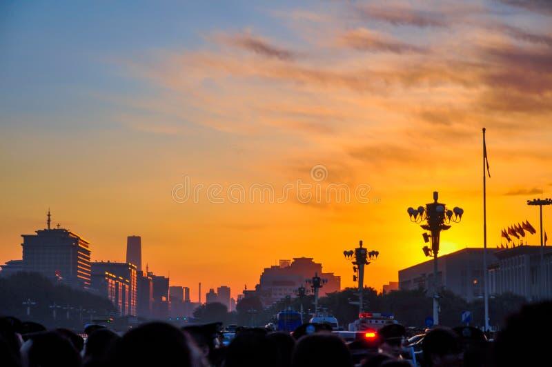 早晨在北京 库存照片