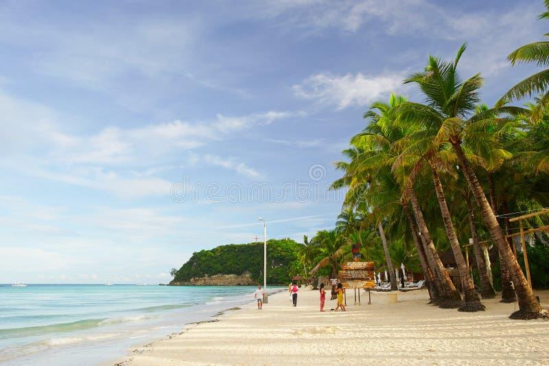 早晨在博拉凯海岛 免版税库存照片