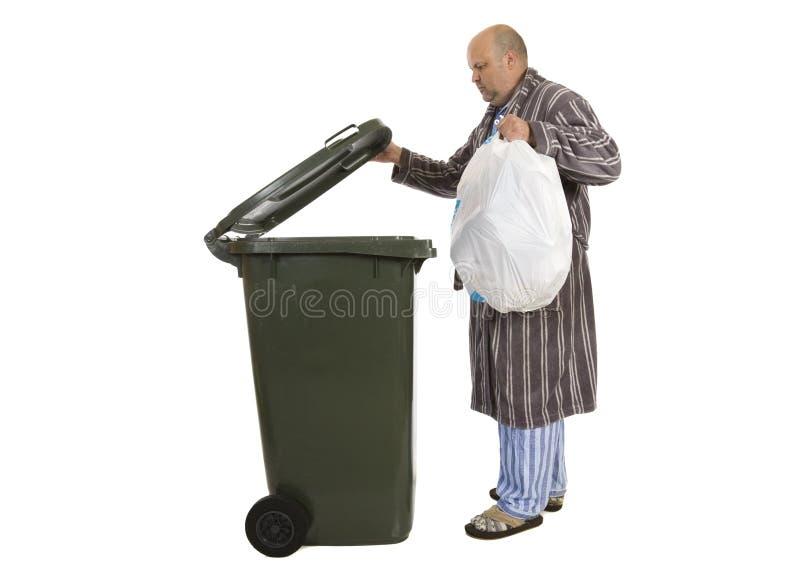 早晨垃圾奔跑 免版税图库摄影