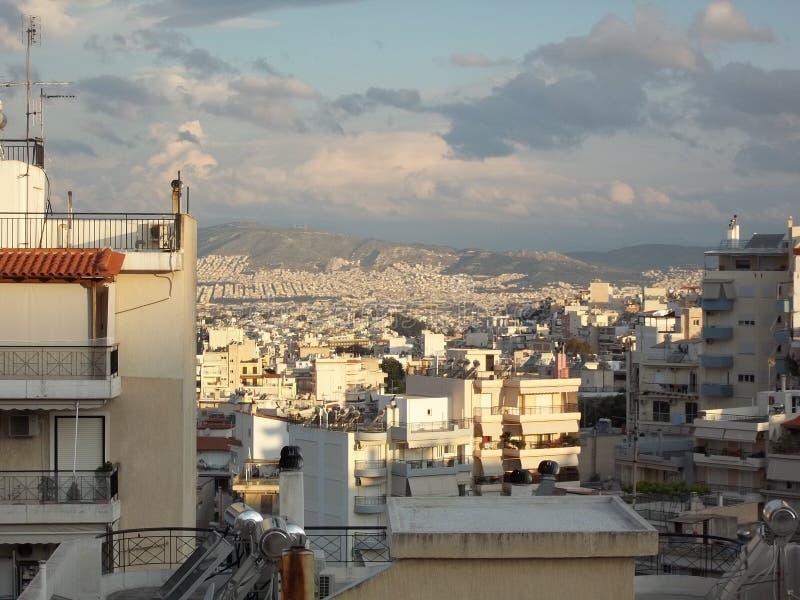 早晨好希腊 库存图片