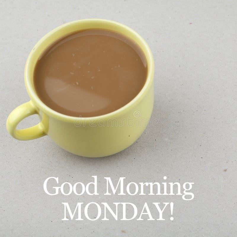 早晨好星期一/激动人心的背景设计 免版税库存图片