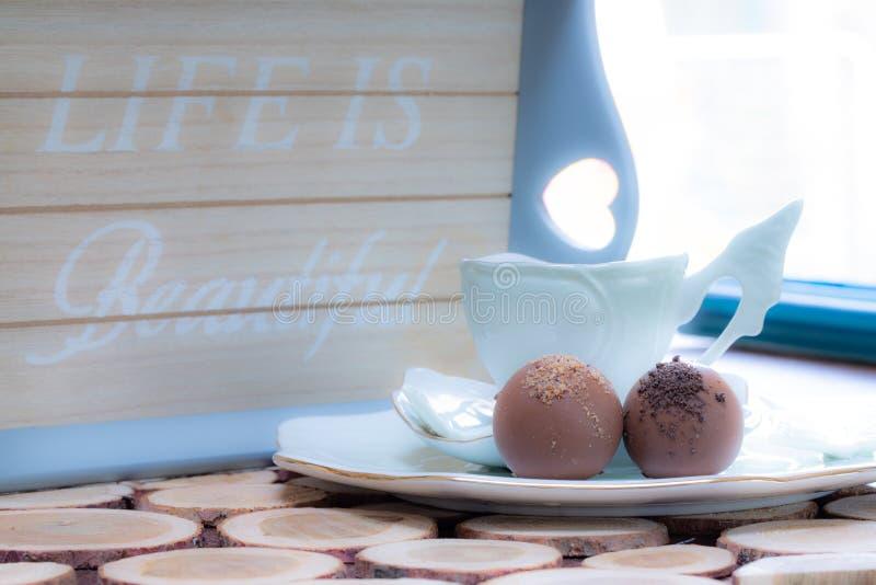 早晨巧克力 免版税库存照片