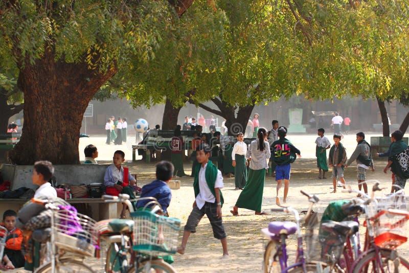 早晨新鲜市场在Bagan,缅甸 免版税库存照片