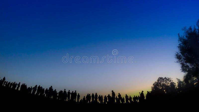 早晨日出北部旅行的山 库存照片